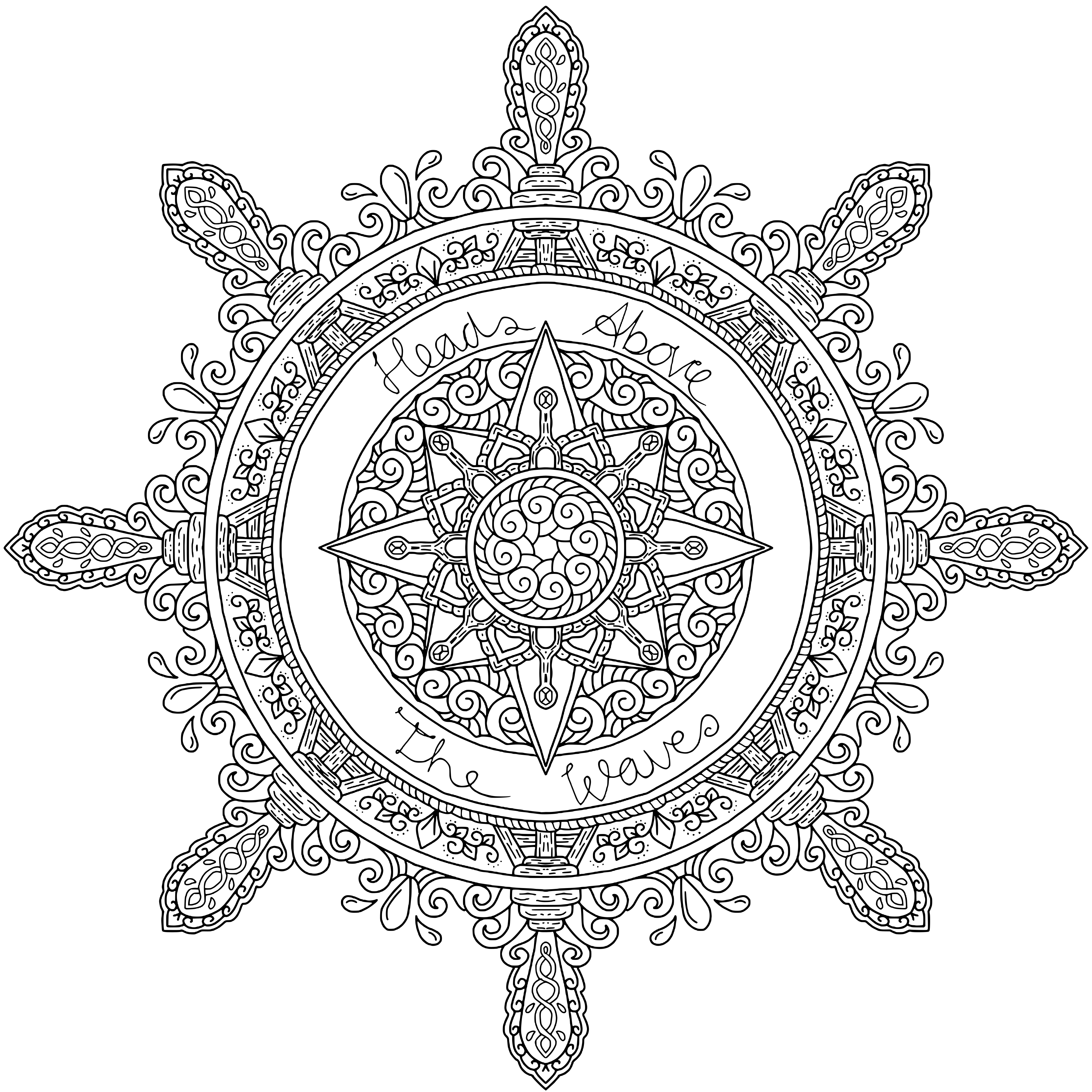 Mandala Mindful Colouring – Heads Above The Waves