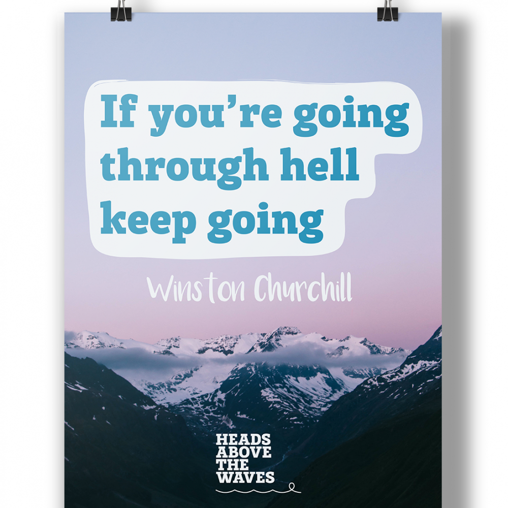 """""""Keep Going"""" Poster"""