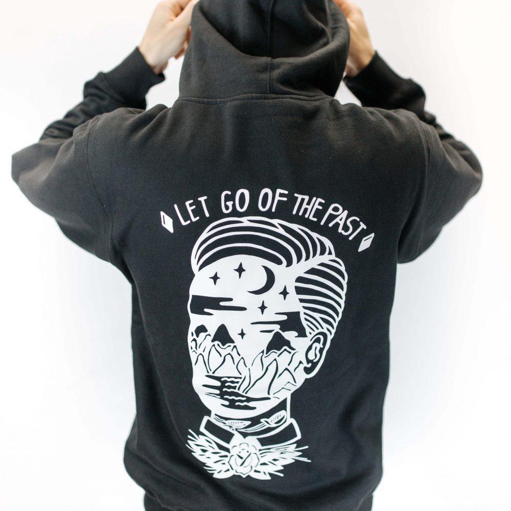 Black Hoodie Back Print
