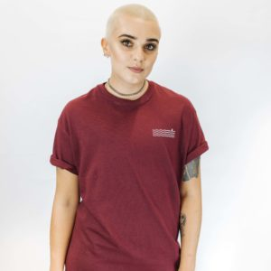 Maroon Waves Tee