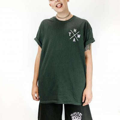 Forest Green Tee with Shorts