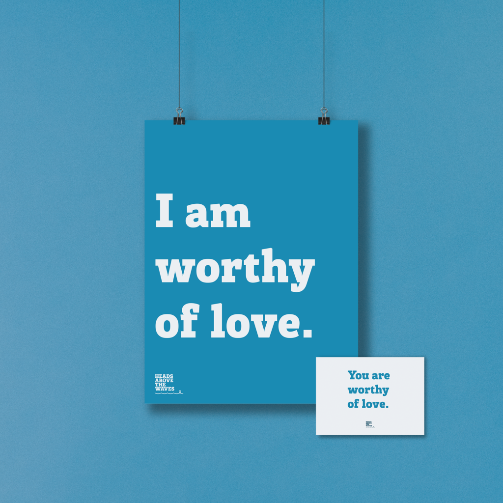 Positive affirmation Poster and Postcard