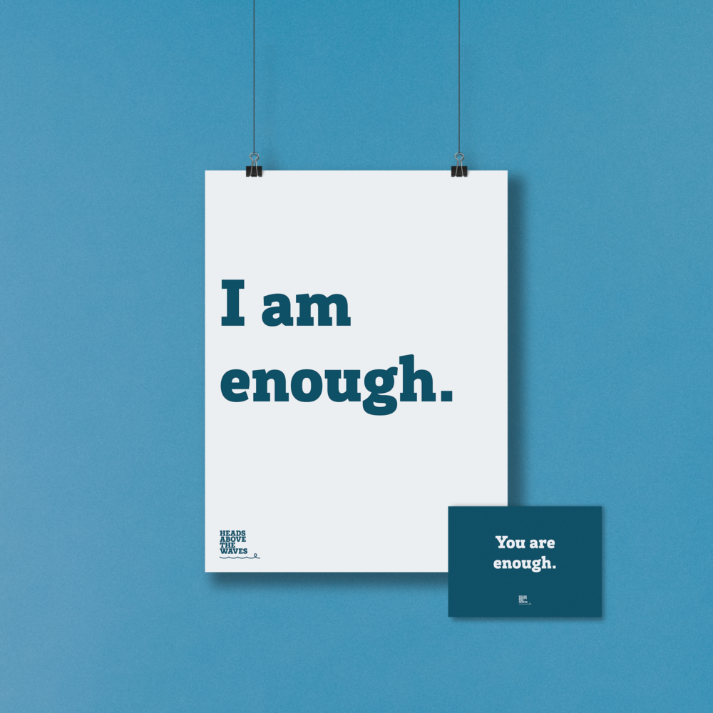 "Positive affirmation ""I am enough"""