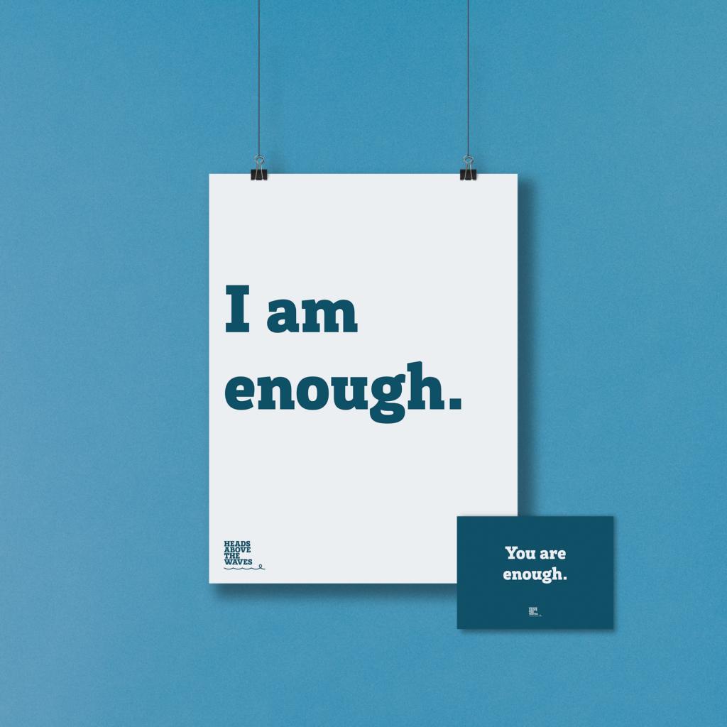 "Positive affirmation ""I am enough"""