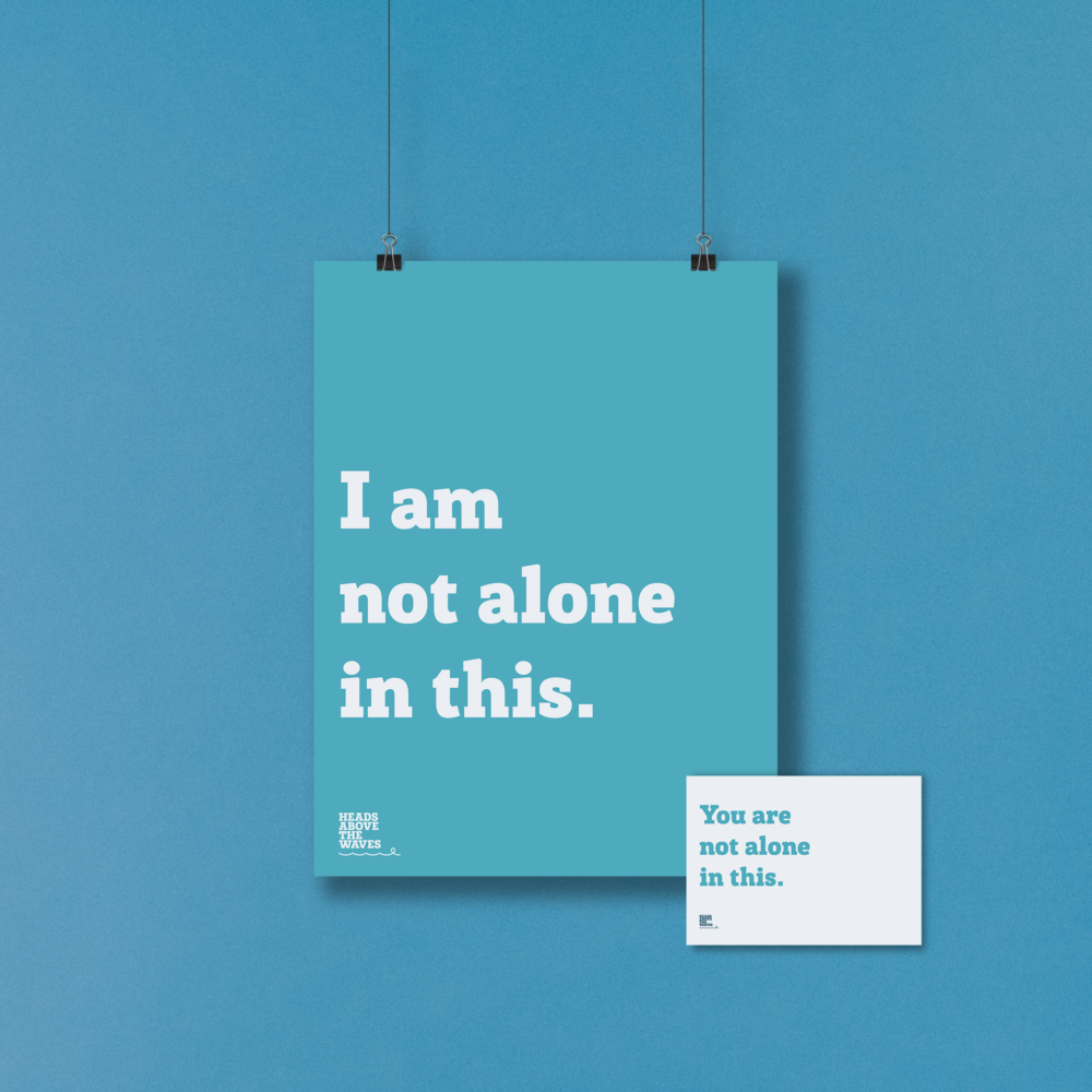 Positive affirmations poster and postcard